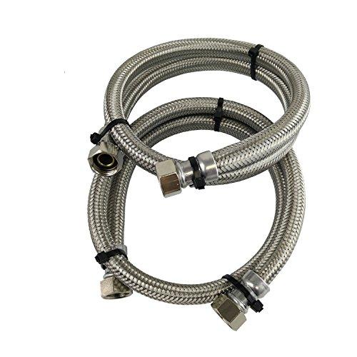Tuyaux tressés en acier inoxydable de 15 mm pour les adoucisseurs d'eau et la filtration de l'eau