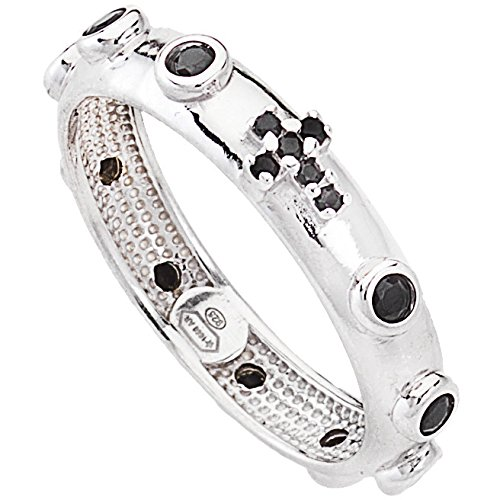 Amen - Anello rosario Amen in argento 925% con zirconi