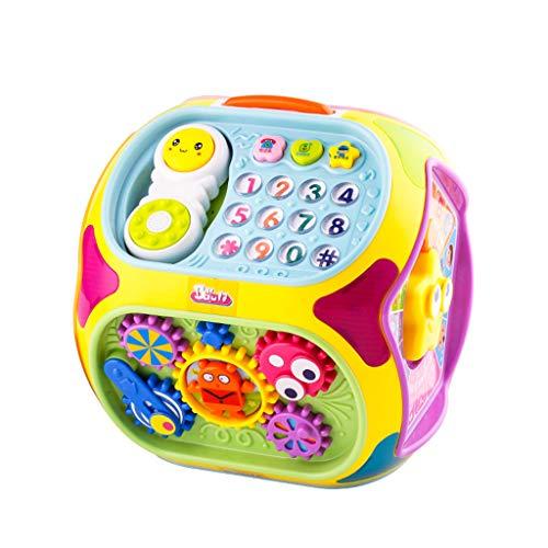 Jouets musicaux Enfants apprendre jouets éducatifs Hexaèdre jouet table bébé multi-fonction table de jeu 1-3 ans vieille musique polyédrique jouet jouet développement intellectuel des enfants Jouets d
