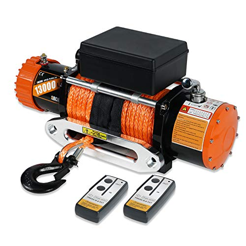 ORCISH 12V IP67 Waterproof Synthetic Rope Winch Electric Truck winches 13000lb