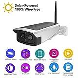 Caméra De Surveillance Solaire Sans Fil HD 1080P WiFi Étanche IP65 Night Vision Camera Extérieure...