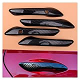 Wishful 4pcs / Set de Fibra de Carbono Cubierta de la Cubierta de la manija de la Puerta de la Puerta de la Fibra de Carbono Ajuste para Hyundai Sonata DN8 2020