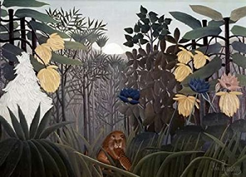 Posterazzi Repast of The Lion Poster Print by Henri Rousseau, (20 x 28) (Henri Rousseau The Repast Of The Lion)