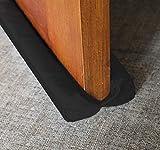 MAXTID Under Door Draft Blocker Black 32-38' Front Air Draft Stopper Reduce Noise Window Breeze Blocker Adjustable Door Sweep