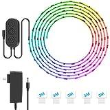 Minger RGB LED Light Strip, 5M 150LEDs IP65 Waterproof Flexible Music Rope Light