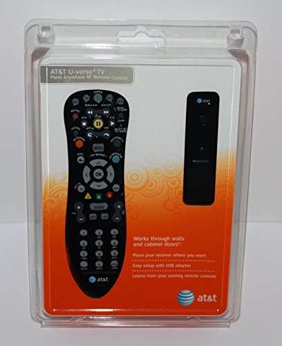U-verse Tv Point Anywhere Rf Remote Control Kit A20-rf1 for At&t Cac300 Cac302