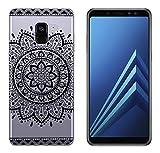 yayago Hülle für Samsung Galaxy A8+ 2018 / A8+ 2018 Duos Silikon Schutzhülle Hülle Hülle Backcover Tattoo Ornament Tribal Design transparent Tasche