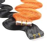 Hair2Heart 40 x 2.5g Adhesivas de Pelo natural-60cm, Colore #10 marrón cenizo, Corrugado – Extensiones pegadas Cabello Real, 60cm, 40 Unidades