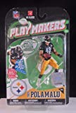 2010 Series 1 Mcfarlane Playmakers Troy Polamalu Pittsburgh Steelers Action Figure
