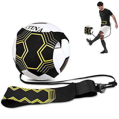JMITHA Balón de fútbol Kick Trainer Solo equipo de entrenamiento para fútbol, voleibol, torneo, rugby, kick trainer, solo para entrenamiento de fútbol para niños y adultos (serie 4)