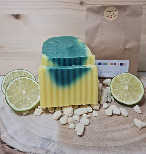 Duschbutter Ginkgo - Limette mit Kakaobutter, 15% überfettet, für die sehr trockene Haut