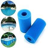 2 filtros de piscina reutilizables y lavables de espuma para bañera de hidromasaje Intex tipo A