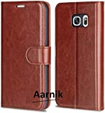 Addindia Vintage Leather Flip Cover Case for Samsung Galaxy S6 (Sining Brown)