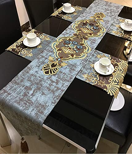 Casa de textiles NUEVO Corredor de mesa de bordado chino Luz Nórdica Luz de lujo Moderno Mesa de mesa Estilo americano Mesa de té de lujo Placemat-MULTI-TAMAÑO (TAMAÑO: 32 * 260cm) ( Size : 32*170cm )