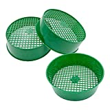 3pcs Garden Sieve Garden Riddle Gardening Sifter for Soil and Stones Plastic Round Large Green Mesh, Perfect Gardening Tool for Garden Sand Soil Compost Stone Home Planting, Suitable for Gardens