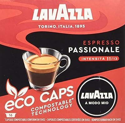 Lavazza A Modo Mio Eco Caps Coffee Pods, Espresso Passionale