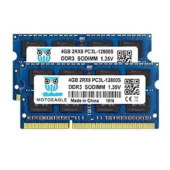4GB DDR3L-1600 SODIMM PC3L-12800S Motoeagle 2Rx8 DDR3 PC3 12800S 8GB Kit  2x4GB  204-pin Dual Rank Laptop Memory