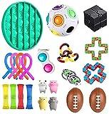 Fidget Set De Juguetes Sensoriales,22 Piezas Fidget Toys Juguetes Para La Ansiedad Juguetes Los Dedos DescompresióN Sensorial Alivio Del EstréS Y Juguetes Contra La Ansiedad Para Adultos NiñOs 22pack