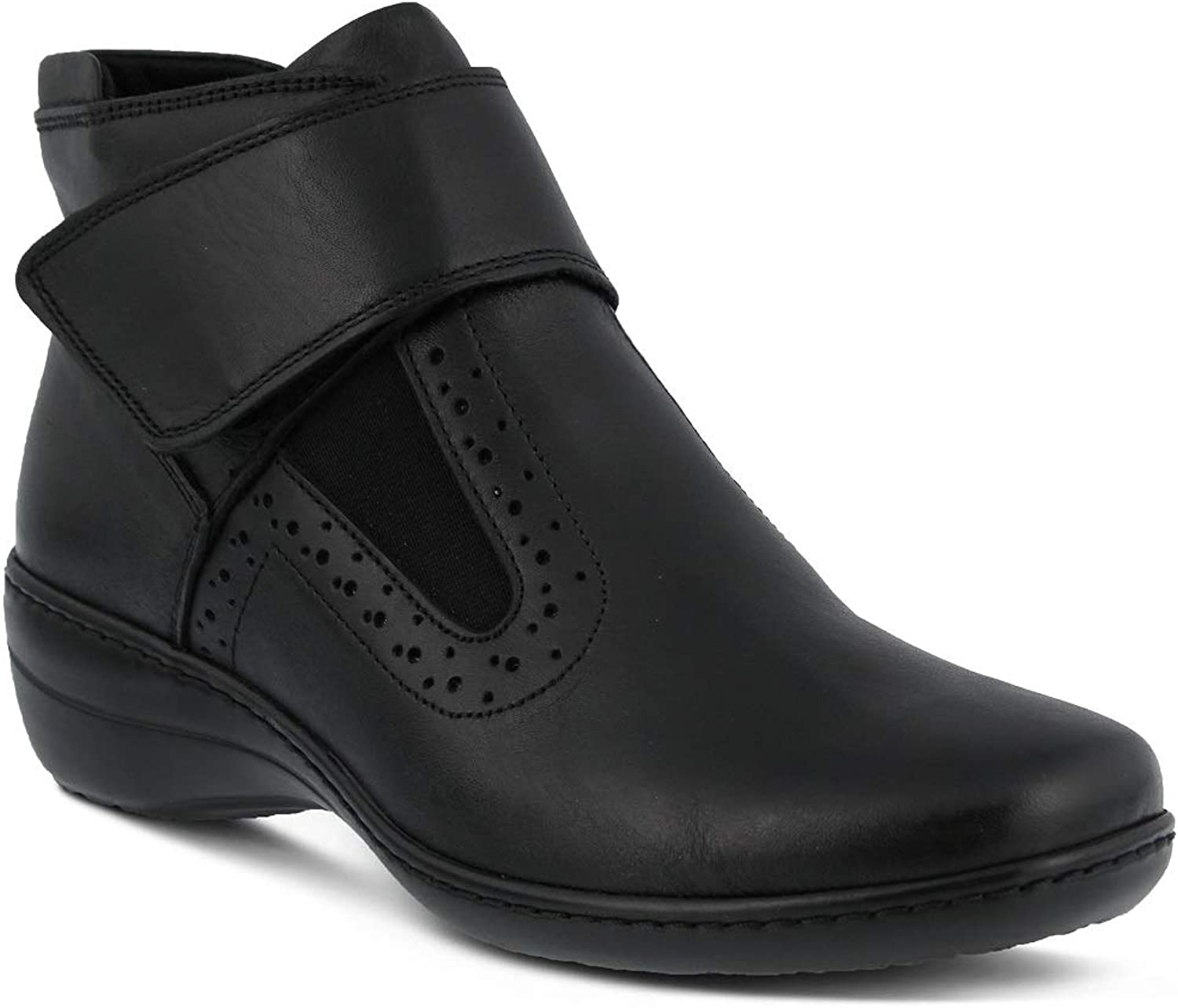 Spring Step Women's Katri Bootie   color Black   Leather Bootie