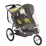 Sasha Kiddie BT - 3R Baby Trend Expedition Jogger double avec roue avant pivotante (Mod-le 9165TW - orange Oak) Jogging Stroller Rain and Weather Cover - Poussette non incluse