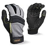 COTOP Guantes de trabajo para hombre, guantes multiusos resistentes al desgaste...