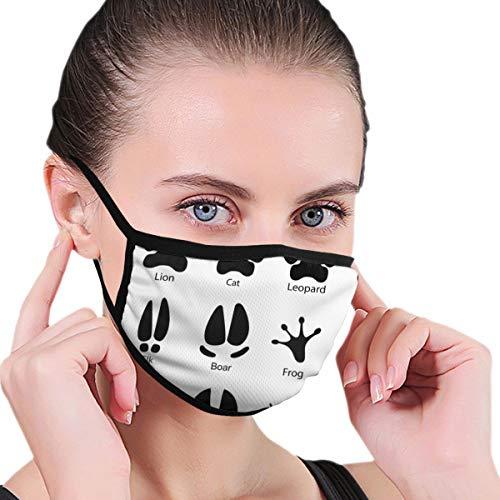 Uosliks Masken Verschiedene Spuren von Tieren decken wiederverwendbar für Frauen Mädchen Reisesport Outdoor Radfahren