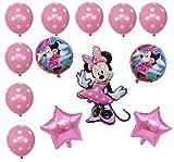 Juego de globos de fiesta de Mickey Mouse, 13 piezas, cumpleaños B Day, color azul, Boy Niño Mickey Mouse globos (1)