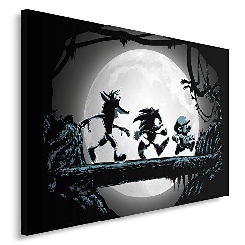 Feeby Fantasie Mario Bros vom DDJVIGO Leinwandbild - 40x60 cm - schwarz Weiss weiß