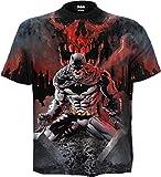 DC Comics - Batman - Asylum Wrap - Camiseta con Estampado Completo - Negro - M
