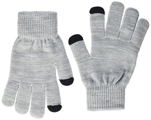 ONLY Damen onlALINE KNIT TOUCH GLOVES NOOS Handschuhe, Schwarz (Black Detail:2-Pack Black And Light Grey Melange), One Size (2er Pack)