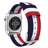 MoKo Bracelet pour Apple Watch Series 5/4/3/2/1 42mm, Bande Sportive de Remplacement en Nylon Tissé pour Tous Les modèles...