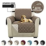Reversible 1 Seater Chair Sofa Cover Furniture Protector with Adjustable Strap, Sitting Width Up to 21' Chair...