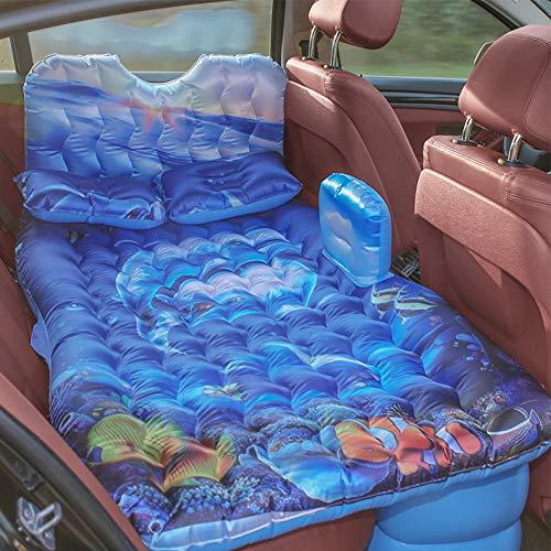 135 x 80 cm Colchón de coche cama hinchable de PVC Oxford suave cojín transpirable para asientos traseros del coche