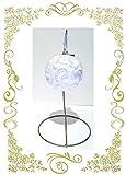 Bola de Navidad artesanal Blanca 12piezas Árbol Decoración Cristal altezza10cm