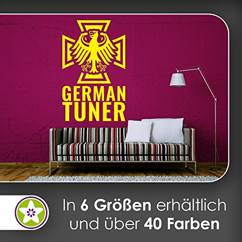 KIWISTAR German Tuner - Deutschland Tuning Wandtattoo in 6 Größen - Wandaufkleber Wall Sticker