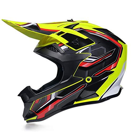 KAAM Casco de motocross para hombre con gafas de protección, guantes, unisex,...