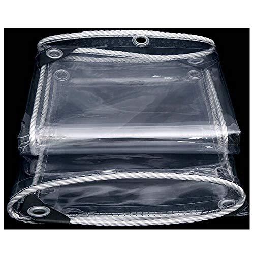 DALL Lona de PVC transparente, tela impermeable con ojales, resistente al polvo y a prueba de lluvia, para exteriores, patio, cubierta de plantas, tamaño personalizado (color: T1, tamaño: 1,8 x 2,5 m)