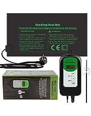 RIOGOO 24 * 52 cm zaailing Warmte Mat en Thermostaat Controller 46-100 ° F Digitale Thermostaat Controller IP68 Waterdicht (Verwarmd Mat+Thermostaat Controller)
