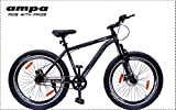 Ampa Cycle for Adults with Front Shocker and Dual Disc Brakes Semi Fat
