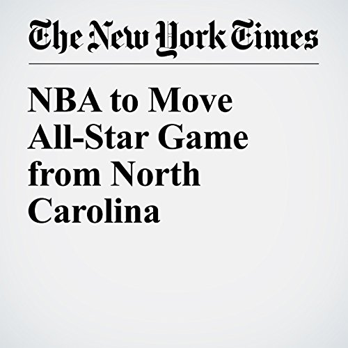 NBA to Move All-Star Game from North Carolina cover art