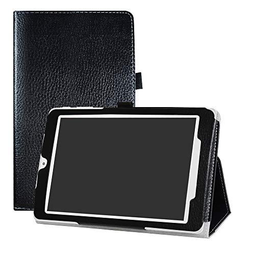LFDZ Alcatel OneTouch Pixi 3 8 3G Custodia, Slim Ultra Pelle Sottile e Leggera Cover Case Custodia per 8  Alcatel OneTouch Pixi 3 8 3G Tablet,Nero