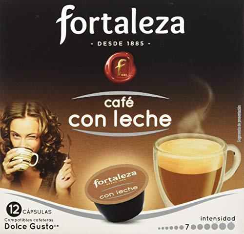 Café FORTALEZA - Cápsulas de Café Con Leche Compatibles con Dolce Gusto - Pack 6 x 12 - Total 72 cápsulas