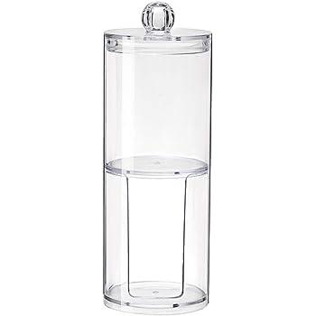 Almohadillas de maquillaje Q-tips Beito Almohadilla de algod/ón 1PC Qtip Holder Dispenser Bathroom Clear Jar Organizador de acr/ílico para bolas de algod/ón Qtip Holder hisopos de algod/ón