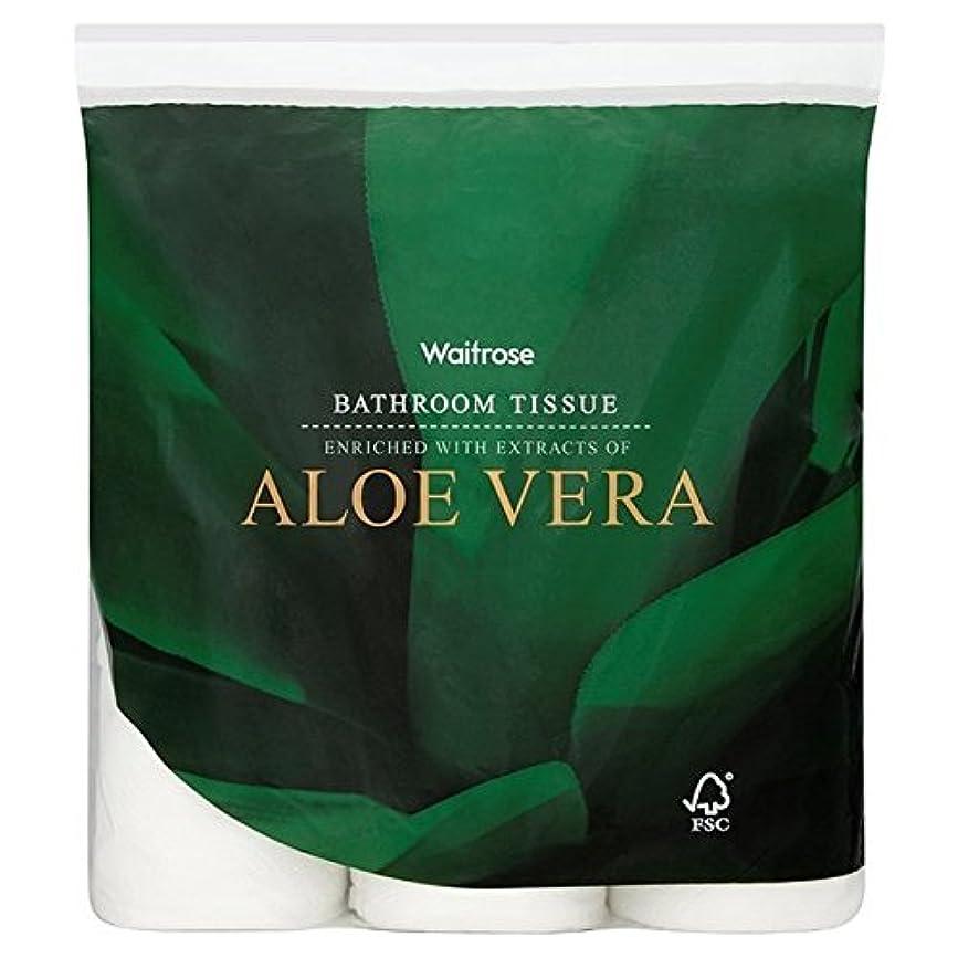 アブセイ口頭幸運なAloe Vera Bathroom Tissue White Waitrose 9 per pack (Pack of 6) - パックあたりアロエベラ浴室組織白ウェイトローズ9 x6 [並行輸入品]