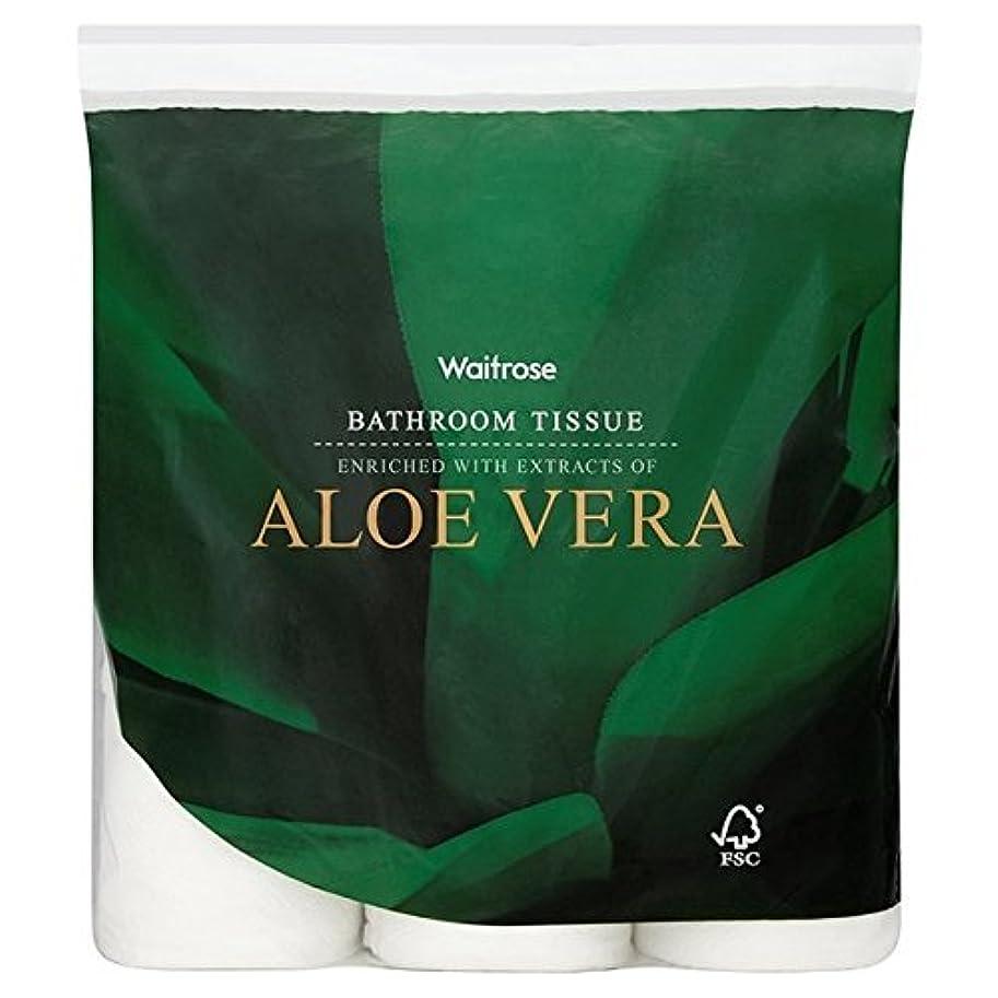 初期洪水最も遠いAloe Vera Bathroom Tissue White Waitrose 9 per pack (Pack of 6) - パックあたりアロエベラ浴室組織白ウェイトローズ9 x6 [並行輸入品]