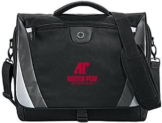Austin Peay Slope Black/Grey Compu Messenger Bag 'AP Austin Peay Governors - Official Athletic Logo'