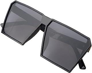 935fc04529 Hombre Grande Gafas De Sol Marco Cuadrado Moda Oversized Gafas Unisexo -  BLDEN