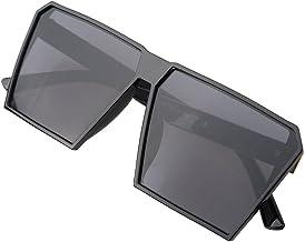 BLDEN Hombre Grande Gafas De Sol Marco Cuadrado Moda Oversized Gafas Unisexo