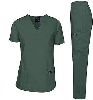 Dagacci Scrubs Medical Uniform Women and Man Scrubs Set Medical Scrubs Top and Pants