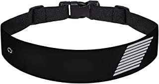 Running Waist Pack, Belt Bag with Earphone Hole Adjustable Waist Curve Elastic Band, Suitable for Men and Women, Convenience to Walk, Cycling, Mountaineering Trip. (Black)